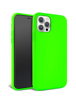 Neon Green Silicone iPhone Case