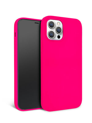 Neon Pink Silicone iPhone Case