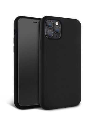Matte Black Silicone iPhone Case