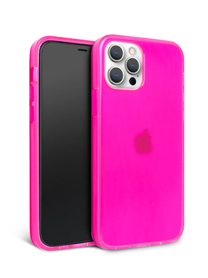 Neon Pink Crystal Clear iPhone Case