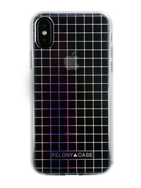 Felony Case Holographic Grid Case iPhone X