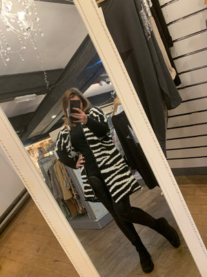 The Zee Zebra print hooded cardigan - Bella Boutique