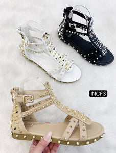 The Rockstar Stud Sandals - Bella Boutique