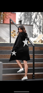 Star Hooded Cardigan - Bella Boutique
