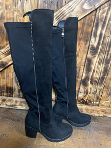 Mahalia Knee High Boots - Bella Boutique