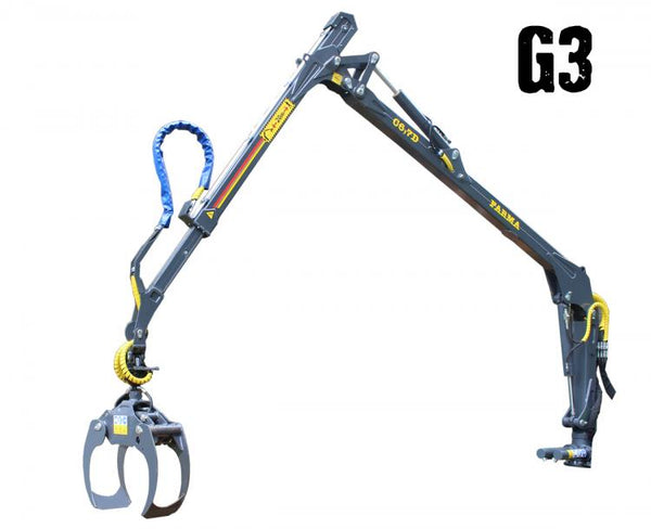 22 foot FARMA Generation g3 log crane. Model 6.7D