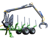 FARMA 7,0-12 forestry crane and trailer.