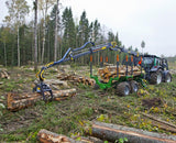 8,5-12 forestry trailer and crane combination.