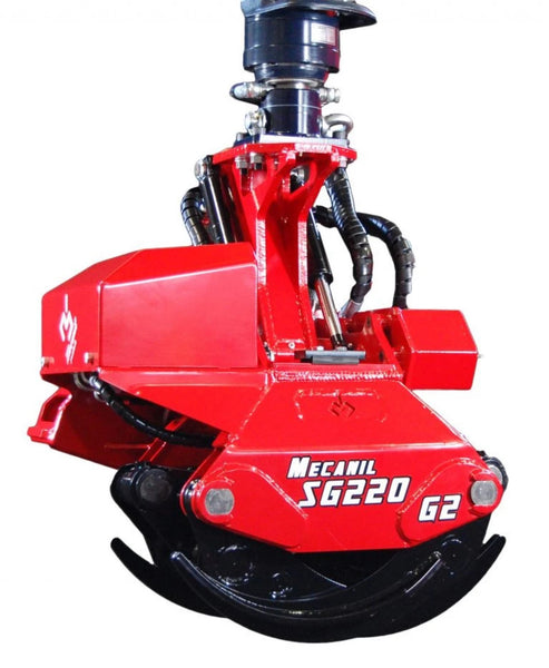 Mecanil SG220 grapple saw for Tree Mek knuckleboom