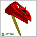 Mecanil saw attachment, ready to install on log grapples.