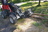 Whelled loader and skid steer mouted tree shear from grapplepros.