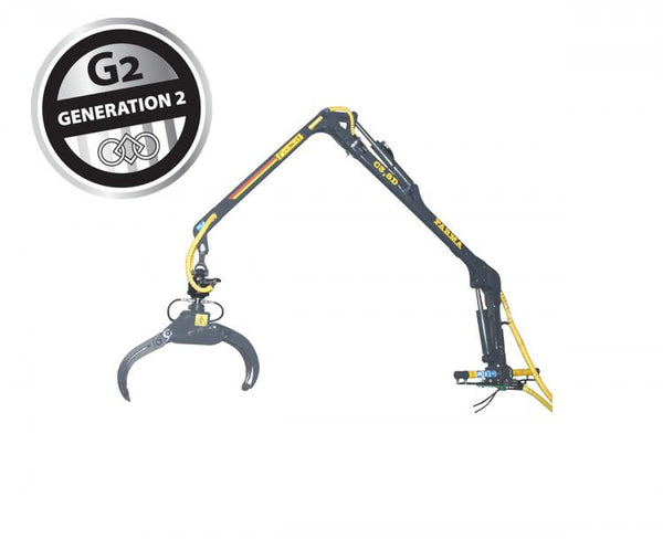 FARMA 3.8 log crane, the smallest model in the range lifts nearly it's own weight