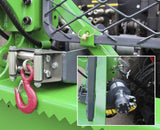 Closeup of hydraulic winch option for FARMA SG1000 log skidding grapple.
