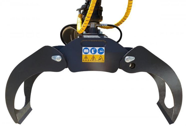 Heavy Duty FARMA log grapple for installation on excavators or knuckleboom trucks.