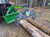 Large log grapple used for skidding logs with tractor.
