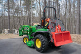 John Deere tractor with KRPAN forestry winch.