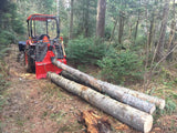 3.5E tractor forestry winch on Kubota