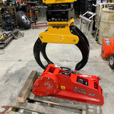 Weld-on grapple saw attachment for excavator grapples