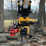 Will's tree service self-installed saw attachment for grapples