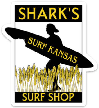 SHARK'S SURF SHOP STICKER