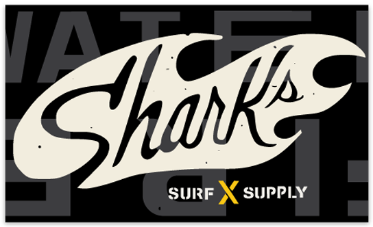 SHARK'S FIRE + WATER STICKER