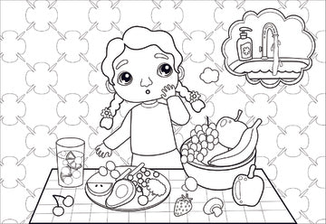 Hi Ho Hygiene Coloring Pages Muslim Kids Tv