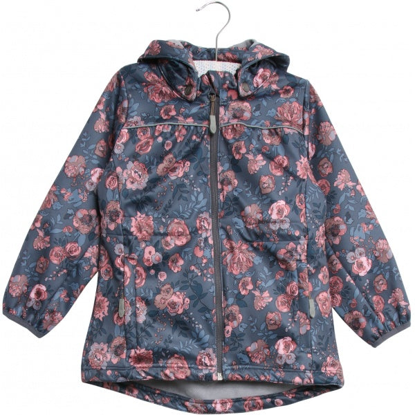 Junior girl softshell Jacket with flowers