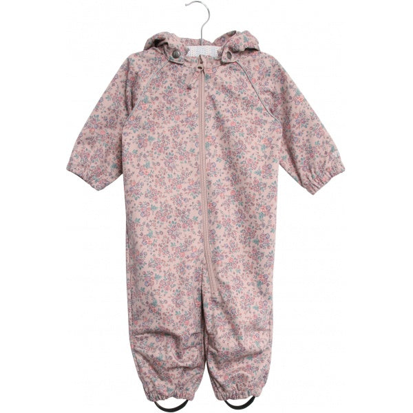 Baby Softshell suit with flowers