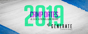 GENERATE Camp by YM360 has released our 2019 dates & locations