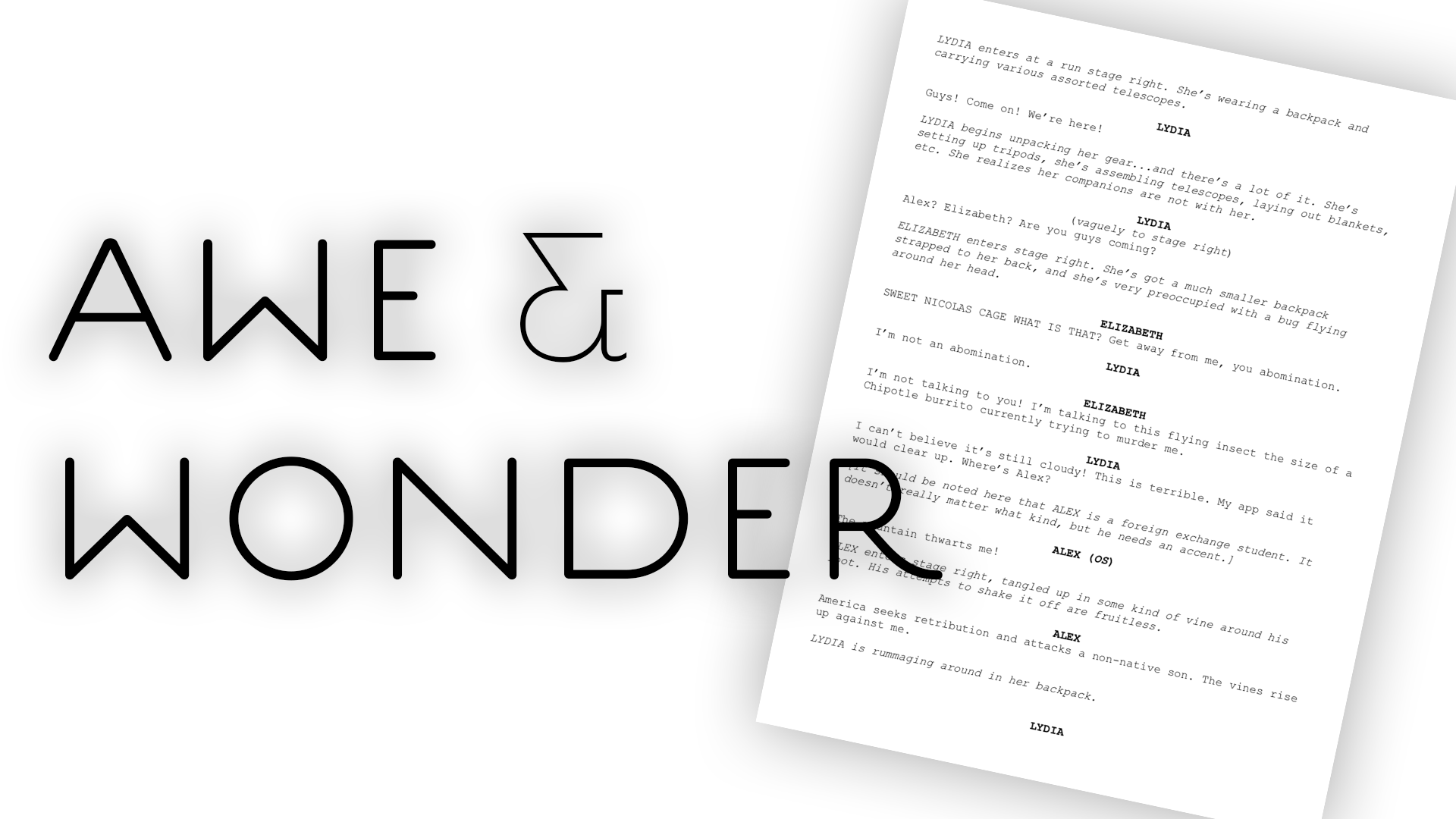 """Awe and Wonder"" Script"