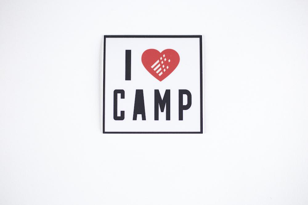 Sticker - I Heart Camp