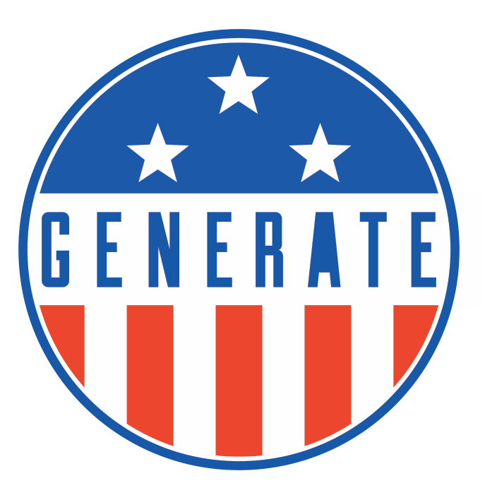 GENERATE Patriotic Sticker