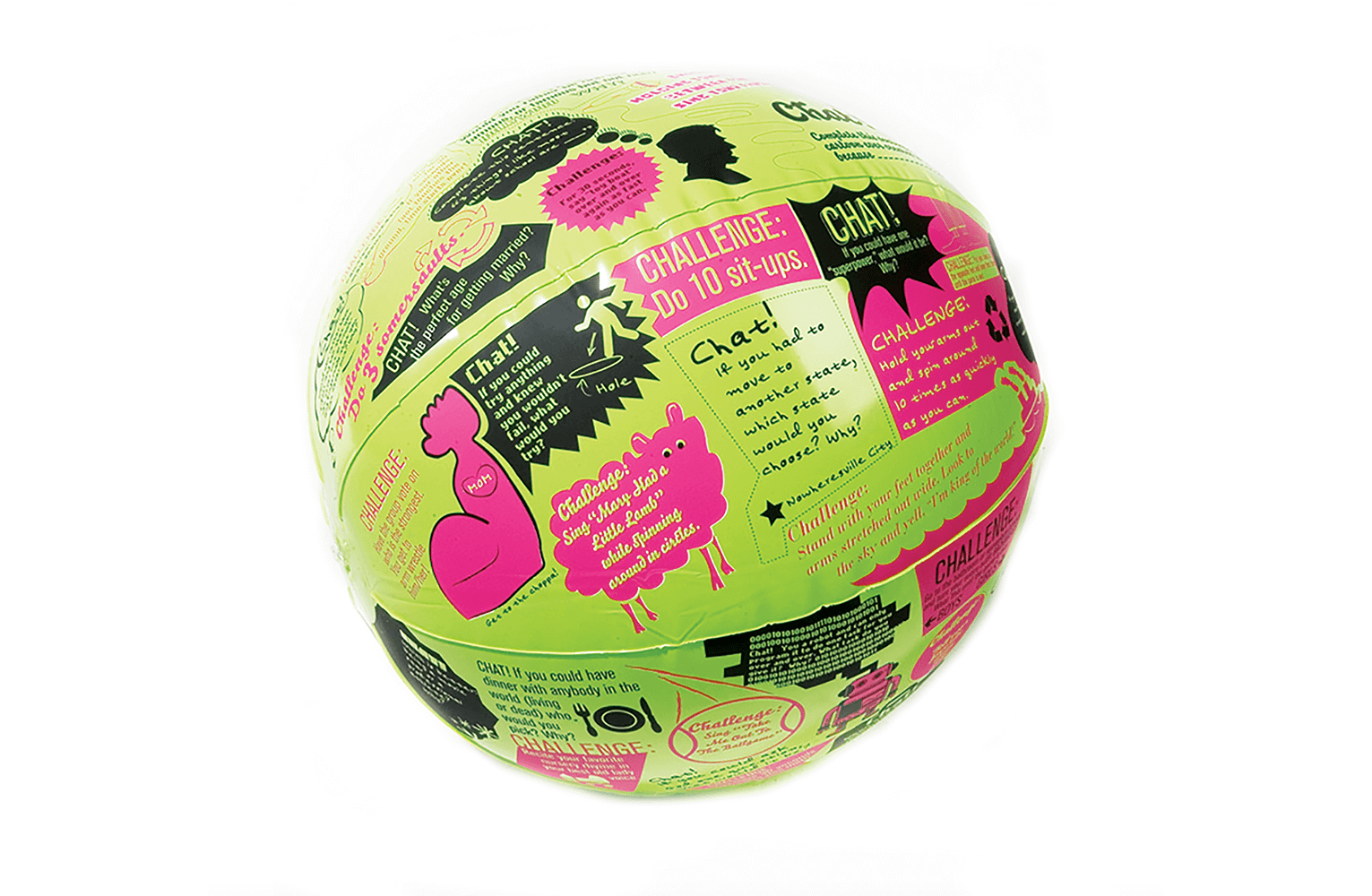Chat or Challenge Game Ball
