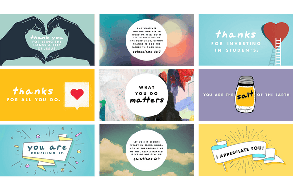 Volunteer Encouragement Card Bundle (Set of 9)