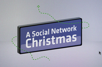(HD) Video Illustration: Social Network Christmas