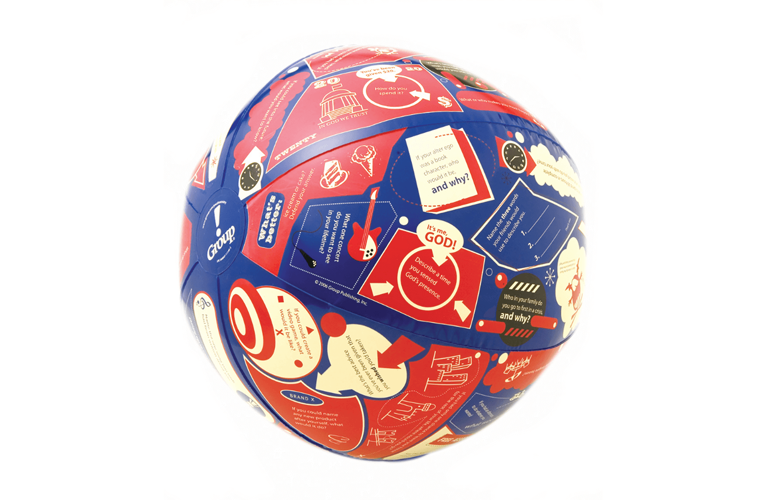 Throw and Tell Ice-Breakers Game Ball