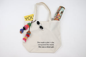 She Was A Clever Girl Tote Bag with blingsling