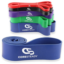 Load image into Gallery viewer, Coresteady blue resistance band, ideal for pull ups, crossfit training, calisthenics, stretching, mobility exercises and home fitness workouts
