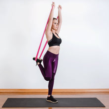 Load image into Gallery viewer, The industry standard in rehabilitation aid and physiotherapy, Coresteady Resistance Therapy bands provide safe and effective workouts that allow you to be in total control of every movement. Female exercising thigh stretching.