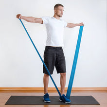 The industry standard in rehabilitation aid and physiotherapy, Coresteady Resistance Therapy bands provide safe and effective workouts that allow you to be in total control of every movement. Male exercising lateral raise.