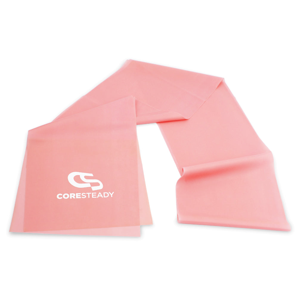 The industry standard in rehabilitation aid and physiotherapy, Coresteady Resistance Therapy bands provide safe and effective workouts that allow you to be in total control of every movement. Pink Lightest Band.
