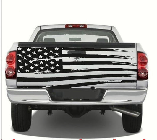 Truck Tailgate USA Flag Decal