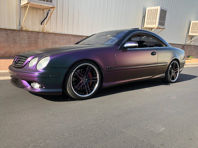 Avery Satin Lightning Ridge Vinyl Wrap Mercedes CL55 AMG