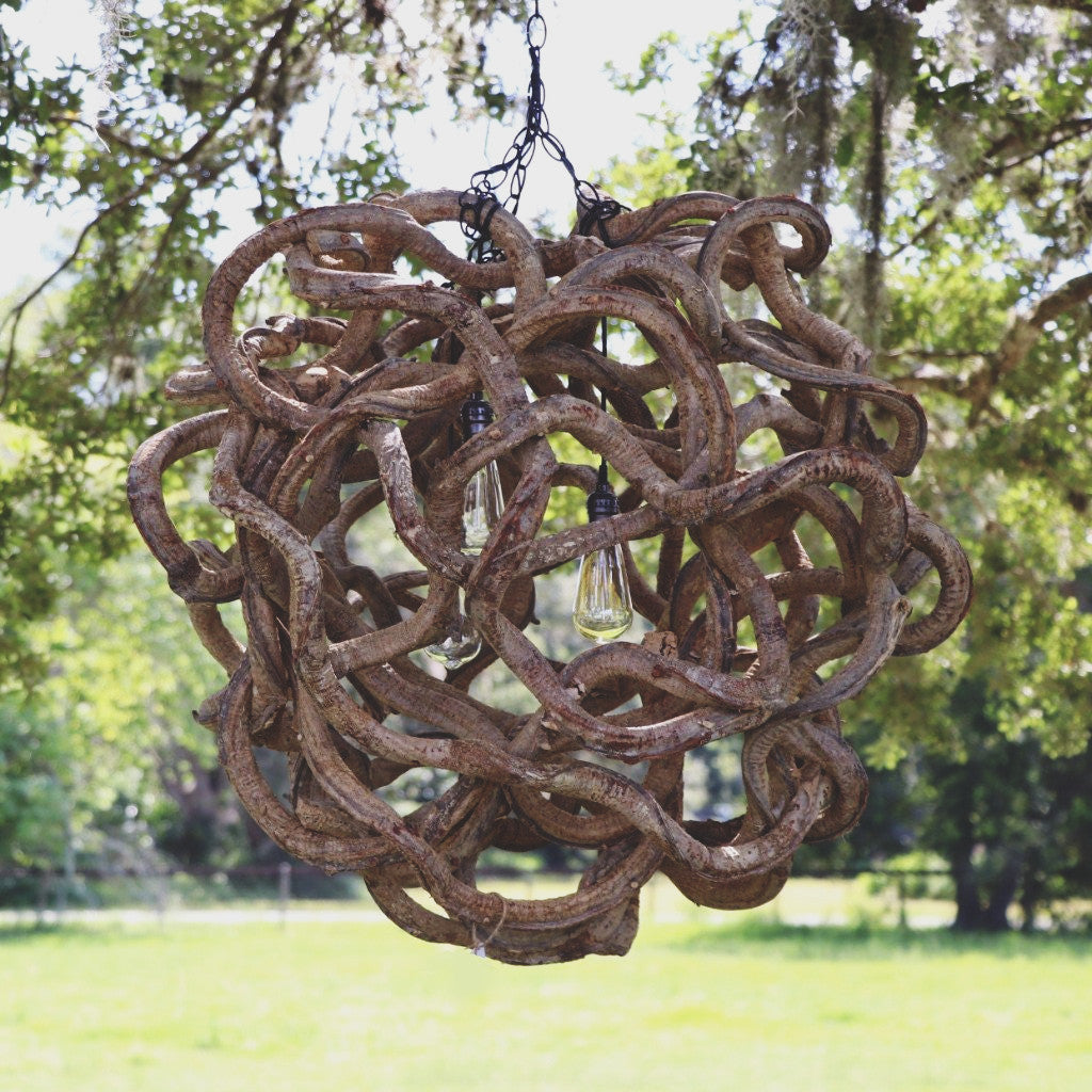 Large Vine Ball Light