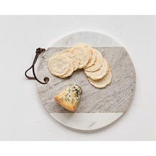 Load image into Gallery viewer, Round Marble Cheese Board