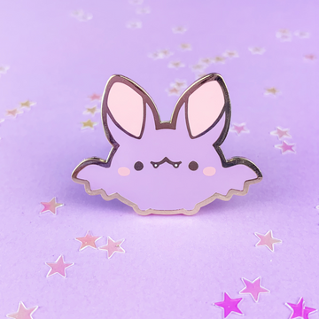 Spooky Cute - Bat (Purple) Pin