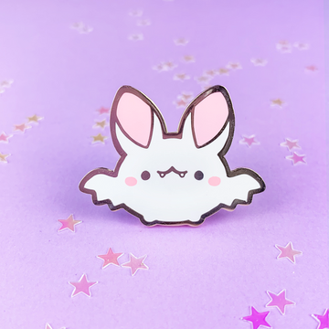 Spooky Cute - Bat (White) Pin