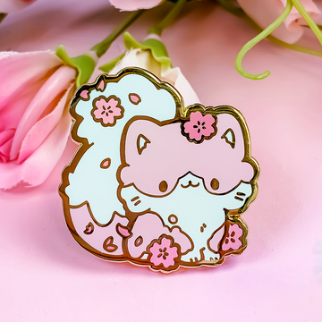 Cherry Blossom Cat Pin (Limited Edition)