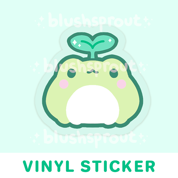 Froggie Sprout Vinyl Sticker