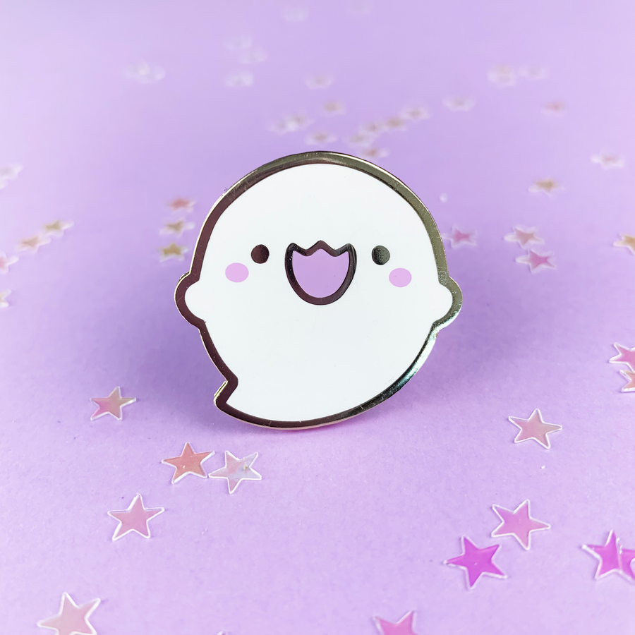 Spooky Cute - Happy Ghostie Pin
